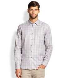 Saks Fifth Avenue Collection Cotton Check Sportshirt
