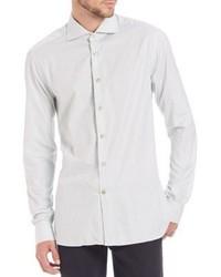 Kiton Grid Check Cotton Sportshirt