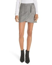 Grey Check Mini Skirt