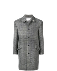 Closed Check Print Coat