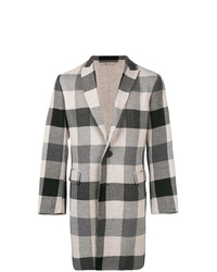 Bottega Veneta Checkered Single Breasted Coat