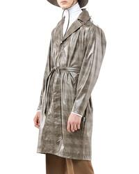Grey Check Raincoat