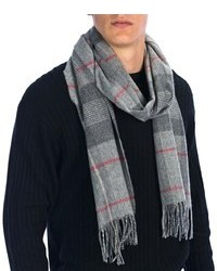 Johnstons of Elgin Centered Check Scarf Cashmere Merino Wool