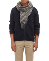 Drakes Drakes Windowpane Check Scarf