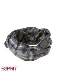 Esprit Check Scarf Noble Grey