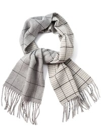 Chaps Reversible Windowpane Plaid Scarf
