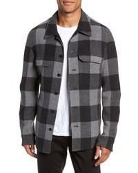 Grey Check Shirt Jacket