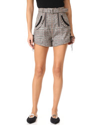 Grey Check Shorts