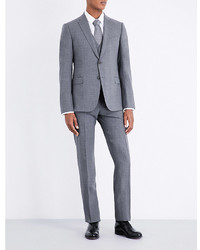 Armani Collezioni Checked Slim Fit Stretch Wool Suit