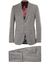 Gucci Grey Monaco Slim Fit Checked Wool Suit
