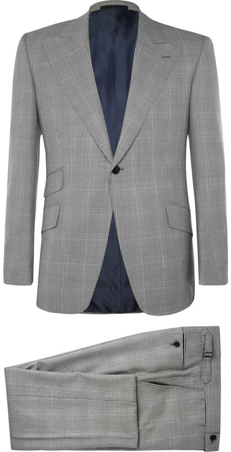 Huntsman Grey Prince Of Wales Check Wool Suit | Where to buy & how ...