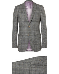 Gucci Grey Slim Fit Prince Of Wales Checked Wool Suit