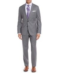 Hugegenius trim fit check wool suit medium 1132049