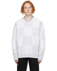 Marcelo Burlon County of Milan Grey Checkboard Sweatshirt