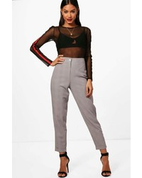 Boohoo Charlie Dogtooth Check Tapered Trouser