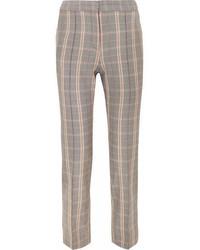 Checked twill tapered pants gray medium 6987375