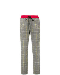 Ermanno Scervino Fitted Plaid Trousers