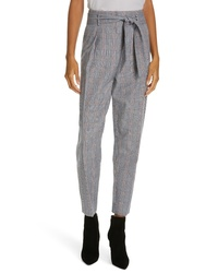 Equipment Marcelle Plaid Cotton Wool Trousers