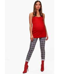 Boohoo Maternity Eva Prince Of Wales Check Legging