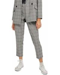 Petite check tapered trousers medium 6987376