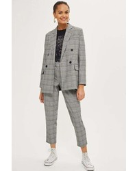 Petite checked tapered trousers medium 6987377