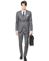 Grey Check Three Piece Suit