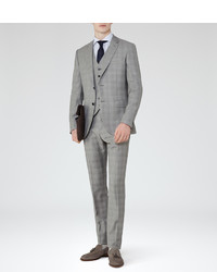 Reiss Quayle Check Wool Suit