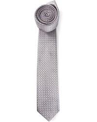 Lanvin Diamond Check Embossed Tie