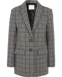 Aldridge checked wool blend tweed blazer gray medium 5258952
