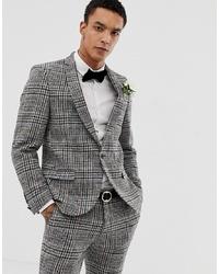 Twisted Tailor Super Skinny Suit Jacket In Harris Tweed