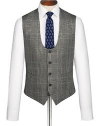 Charles Tyrwhitt Grey Glen Check Slim Fit Suit Vest