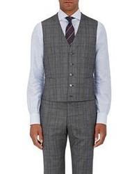 Isaia Sanita Checked Vest Grey