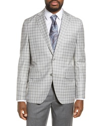 David Donahue Ashton Classic Fit Check Wool Sport Coat