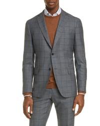 Eidos Fit Windowpane Wool Sport Coat
