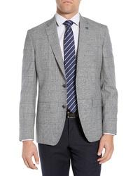 Ted Baker London Fit Windowpane Wool Sport Coat