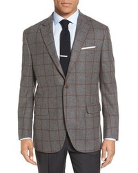 Peter Millar Flynn Classic Fit Windowpane Wool Sport Coat