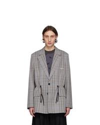 MAISON KITSUNÉ Grey 2 Buttons Jacket