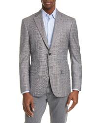 Canali Siena Soft Classic Fit Windowpane Silk Wool Sport Coat
