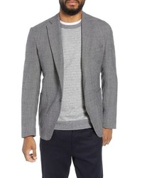 Eleventy Trim Fit Stretch Check Wool Sport Coat
