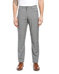 Grey Check Wool Chinos
