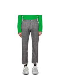 Sulvam Grey Slim Trousers