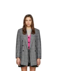 Isabel Marant Etoile Grey Eagan Check Blazer