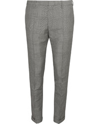 Grey Check Wool Dress Pants