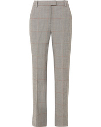 3.1 Phillip Lim Checked Wool Blend Straight Leg Pants