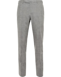 Boglioli Grey Dover Slim Fit Checked Wool Suit Trousers