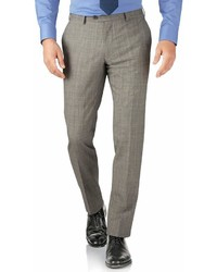 Charles Tyrwhitt Grey Prince Of Wales Check Slim Fit Panama Business Suit Wool Pants Size W38 L38 By