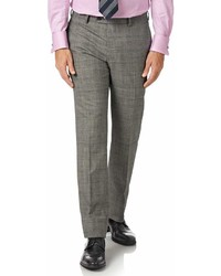 Charles Tyrwhitt Grey Slim Fit Panama Prince Of Wales Check Business Suit Wool Pants Size W32 L30 By