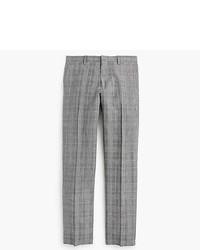 J.Crew Ludlow Slim Fit Suit Pant In Italian Glen Plaid Wool Linen