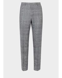 Versace Silk Wool Blend Tapered Pants