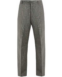 Lanvin Wide Leg Checked Wool Trousers